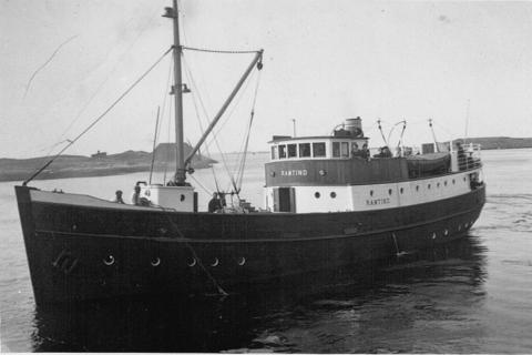 «Ramtind», lokalbåt på 50-og 60-tallet. Eid av TTS.