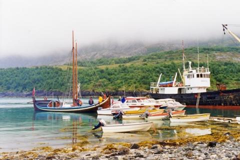 Mange båter på besøk