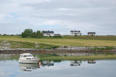 1. Hytter på Vågsodden. Foto: Beate Andorsen