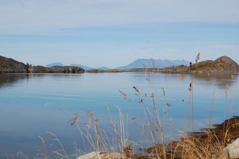 5. Fra Steinvika, utsikt nordover mot Dønnamannen og Syv Søstre. Foto: Beate Andorsen